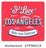 vintage greeting card from los... | Shutterstock .eps vector #679586215