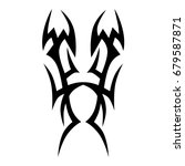 tattoo tribal vector design.... | Shutterstock .eps vector #679587871