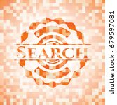 search orange mosaic emblem... | Shutterstock .eps vector #679597081