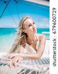 portrait of the beautiful blond ... | Shutterstock . vector #679600729