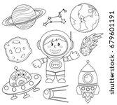 set of space elements.... | Shutterstock .eps vector #679601191