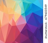 abstract low poly geometrical... | Shutterstock .eps vector #679603549