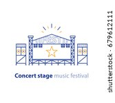 concert stage rental services ... | Shutterstock .eps vector #679612111