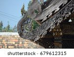 thai temple ancient roof | Shutterstock . vector #679612315