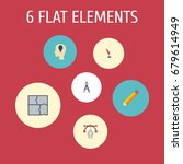 flat icons idea  compass ...   Shutterstock .eps vector #679614949