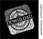 download written on a blackboard