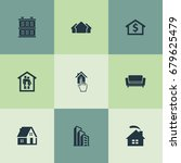 vector illustration set of... | Shutterstock .eps vector #679625479