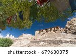 shey palace monastery with blue ... | Shutterstock . vector #679630375