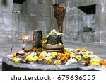 Shiv Ling With Copper Snake