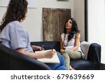 psychotherapy session  woman... | Shutterstock . vector #679639669