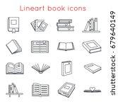 book icons symbols logos set... | Shutterstock .eps vector #679640149