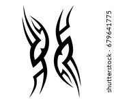 tribal tattoo art designs.... | Shutterstock .eps vector #679641775