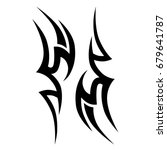 tattoo tribal vector design.... | Shutterstock .eps vector #679641787