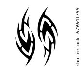 tribal tattoo art designs.... | Shutterstock .eps vector #679641799