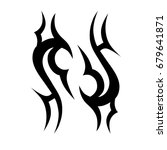 tribal tattoo art designs.... | Shutterstock .eps vector #679641871