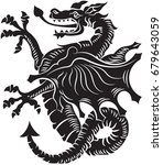 tribal tattoo dragon on white... | Shutterstock .eps vector #679643059