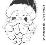 santa claus hand drawn vector... | Shutterstock .eps vector #679649515