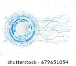 abstract technology circuit... | Shutterstock .eps vector #679651054