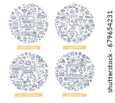 doodle vector concepts of pc ... | Shutterstock .eps vector #679654231