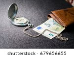 pocket watch  money | Shutterstock . vector #679656655