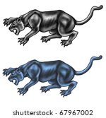 black panther and color panther | Shutterstock . vector #67967002