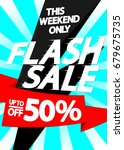 flash sale  up to 50 percent... | Shutterstock .eps vector #679675735