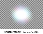 vector glowing light effect on... | Shutterstock .eps vector #679677301