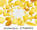 golden realistic fortune coin... | Shutterstock .eps vector #679680505