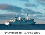 white military comander vessel... | Shutterstock . vector #679681099