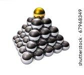 pyramid modern design | Shutterstock . vector #67968349