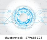 abstract circular technology... | Shutterstock .eps vector #679685125