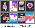 futuristic fluid shapes... | Shutterstock .eps vector #679686379
