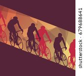 cycling race man vector... | Shutterstock .eps vector #679688641
