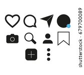 vector image of set of internet ... | Shutterstock .eps vector #679700089