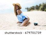 outdoor fashion summer photo... | Shutterstock . vector #679701739