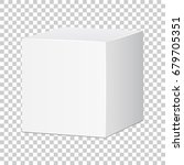 blank white carton 3d box icon. ... | Shutterstock .eps vector #679705351