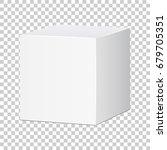 blank white carton 3d box icon. ... | Shutterstock .eps vector #679705351