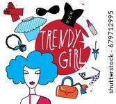 illustration fashionable girls