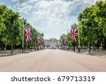 union jack flags near... | Shutterstock . vector #679713319