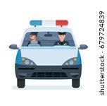 arrest of a robber  a criminal... | Shutterstock .eps vector #679724839
