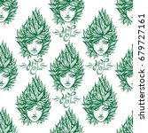pattern from girl with...   Shutterstock .eps vector #679727161