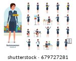 set of character businesswoman... | Shutterstock .eps vector #679727281
