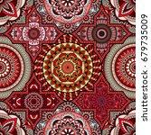 patchwork pattern. vintage... | Shutterstock .eps vector #679735009