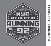 athletic sport running...   Shutterstock .eps vector #679735861