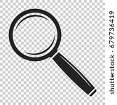 loupe icon vector. magnifier in ... | Shutterstock .eps vector #679736419