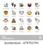 outline icons thin flat design  ... | Shutterstock .eps vector #679751791