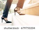 modern businesswoman working... | Shutterstock . vector #679753204