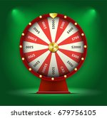 wheel of fortune isolated red... | Shutterstock .eps vector #679756105