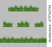 set green grass borders  vector ... | Shutterstock .eps vector #679762741