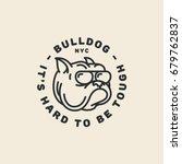 Bulldog Logo Template Design I...